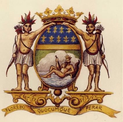 Armoiries de la Compagnie française des Indes Orientales.