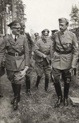 Visite d'Hitler à Mannerheim 4 juin 1942, photo du journal illustré Suomen Kuvalehti.