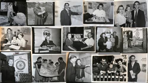 3. Photos des « Hometown Stories » de DPs ayant obtenu un visa pour les États-Unis, Bureau d'information publique de l'Organisation internationale pour les réfugiés, 1949-1951. Archives de l'OIR, AJ/3/675.