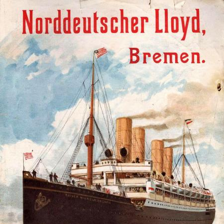 Advertising poster for the Norddeutscher Lloyd company, around 1903.